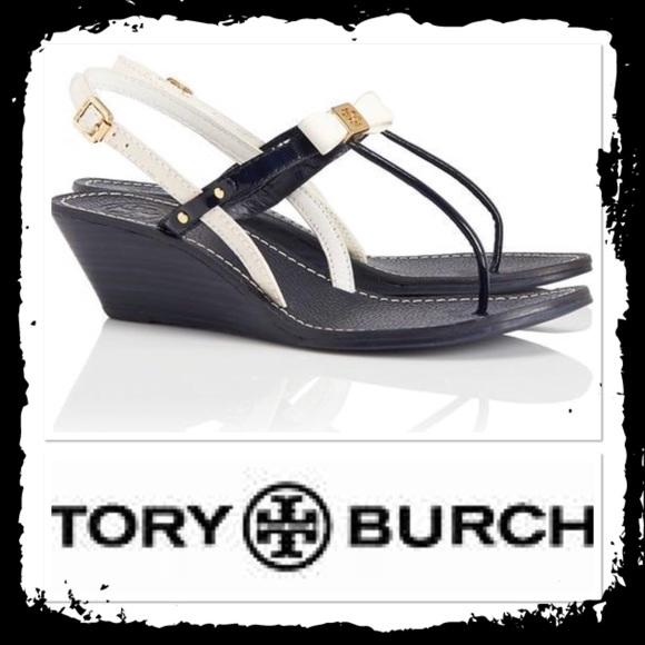 bee873b30070 Tory Burch Kailey Wedge Thong Sandal. M 5af9eae32ab8c55fd4c2d3d0